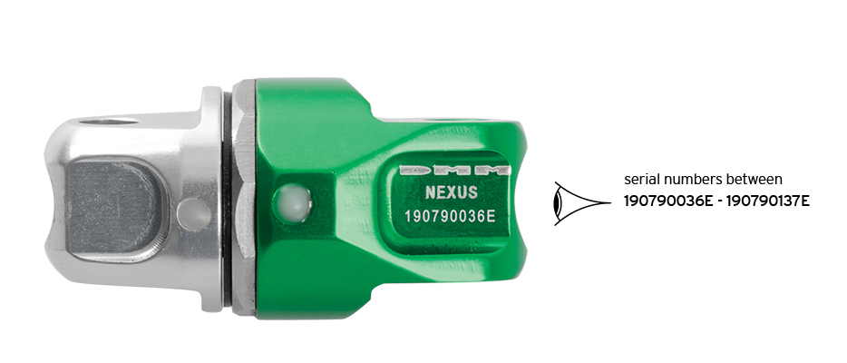 Nexus Swivel body showing serial number